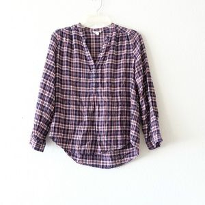 2/$35 Soft Joie Vneck Flannel Top Size Xsmall